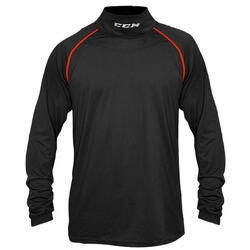 CCM Neckguard Long Sleeve Compression Top Senior