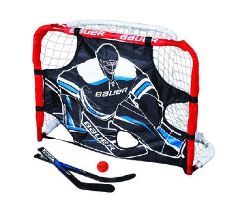 Bauer Mini Goal w/ 2 Sticks, Ball, and Target