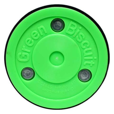 Green Biscuit Pro Training Hockey Puck