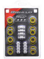 HI-LO 608 Bearings ABEC7 16 Pack w/Spacers