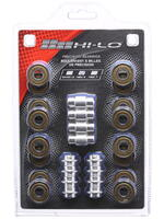 HI-LO 608 Bearings ABEC9 16 Pack w/Spacers