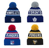 NHL Jacquard Cuffed Knit With Pom Junior