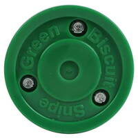 Green Biscuit Snipe Training Hockey Puck