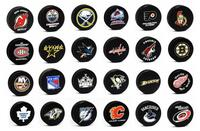 NHL Team Basic Logo Ice Hockey Pucks